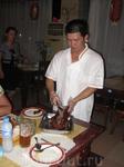 подача утки по-пекински, очень вкусно )))