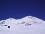 Вот он и Эльбрус! Высота одной вершины-5620, другой-5642 м. над уровнем моря!
