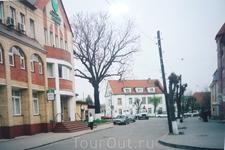 На  улицах  Зеленоградска.