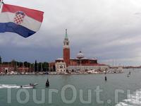 в Венеции под хорватским флагом