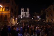 Вечерний Рим. Испанская лестница