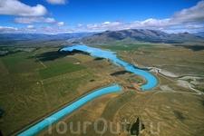 Ohau A - ГЭС, Южный остров, Новая Зеландия