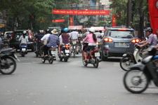 прогулка на рикше в городе.