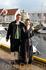 норвежская пара в национальных костюмах...
