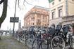 Типичная для Стокгольма стоянка велосипедов.