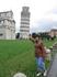 """Пизанская Падающая башня. """"Падающая башня"""" стала чуть ли не самой знаменитой достопримечательностью в мире. Высота башни - 60 м, и она отклоняется от ..."""