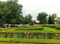 Замок окружает прекрасный сад, в котором нам тоже не довелось нормально погулять и насладиться чистым вкусным воздухом. Английский парк замка Глубока является ...