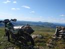 Мотоцикл Ямаха Серов. Восточный Саян. Пезинское белогорье.