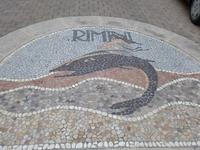 Мозаика на мостовой в Римини.