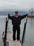 Женевское озеро. Противоположный берег - Франция.