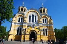"""Владимирский собор (1862-1882 год) - один из важных памятников Киева, несмотря на свой """"юный"""" возраст. В 1852 году был объявлен сбор средств на строительство ..."""