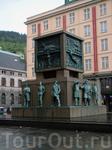 памятник, посвященый жителям Бергена