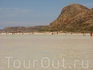 Белые пляжи бухты Балос.