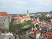Чешский Крумлов, находится в списке ЮНЕСКО.