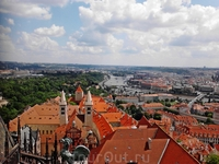 Пражский Град. Собор Святого Вита. Вид с башни