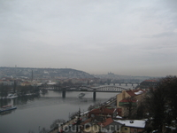 Вышеград. Виды с холма на город и Влтаву