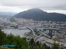 Вид на город с горы.