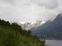 Вид на ледник Folgefonna