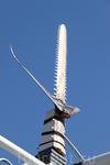 На носу нашего корабля вот такое... Рыба меч - fish sword. ))