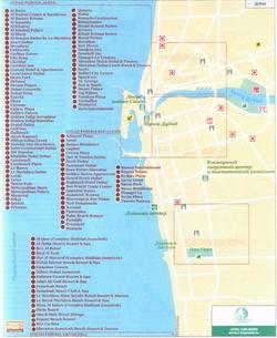Карта Дубаи с отелями