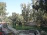 На Святой реке Иордан, где был крещён Иисус Христос.