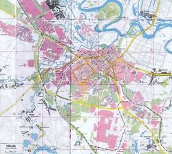 Карта Рязани с улицами