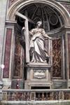 Святая равноопостольная царица Елена,привезшая в Рим частицы Животворящего Креста и Гвозди Распятия.Работа учеников Бернини.