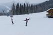 полет сноубордиста))