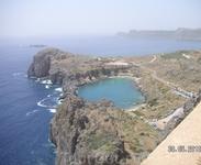 Вид с Акрополя на бухту Святого Павла