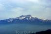 Вулкан Этна (снимок из городского сада Таормины)