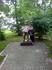 Мужичок с гармошкрй. В  Биробиджане любят  городские скуотптуры