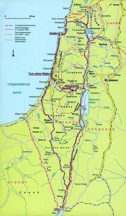 Карта Израиля с городами