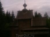 Церковь 19-го века в музее деревянного зодчества