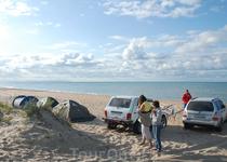 Лагерь на диком пляже :) романтика!!!  утро... пробуждение...