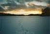 Январь 2005г. Восход солнца. Устье ручья.