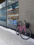 и зимой на велосипедах ездят