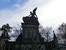 Слева от храма находится Вышеградское кладбище. Основная часть кладбища — Славин, место захоронения наиболее именитых деятелей культуры и искусства. Славин представляет собой нечто вроде общего мавзол