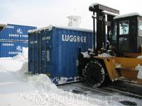 так, хитрый китаец, с помощью контейнера увеличил площадь единовременной очистки территории)