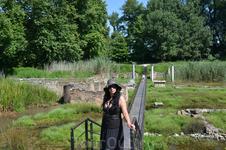 Мост на раскопках святилища Изиды