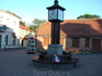 Часы на площади в старой части города