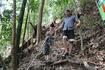 Потом преодолели крутой подъем в гору. Чем дальше шли , тем все меньше был слышен шум воды