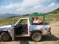 Конец поездки на джипах в горы