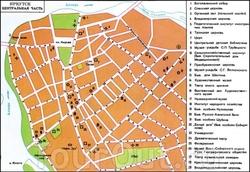 Карта центра Иркутска