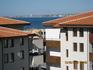 Вид с балкона на город Солнечный Берег