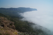 Вид на мыс Айя в тумане