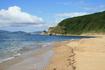 Пляж в нашей бухте, самое начало сентября. Тут будем ставить лагерь.
