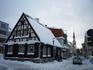 Пярну. Деревянный домик в самом центре в немецком, похоже, стиле