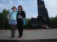 На въезде в город Мемориал воинам водителям