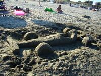 Поклонники феррари на пляже!