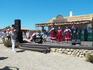 Выступление на сцене Атаманского правления. Чтоб было видно сцену мы вышли вперед толпы